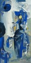 Nrutyachandrika 55 | Painting by artist Vishal Phasale | acrylic | Canvas