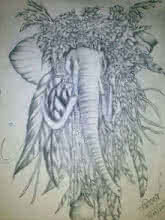 Silence of animal that talks his beauty | Drawing by artist Soumen Roy |  | pencil | Art Paper
