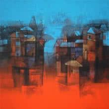 Cityscape | Painting by artist Sachin Akalekar | acrylic | Canvas