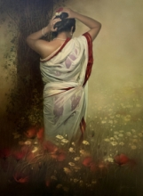 Figurative Oil Art Painting title 'Wet Lady' by artist Amit Bhar
