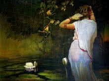 Wet Lady | Painting by artist Amit Bhar | watercolor | Paper