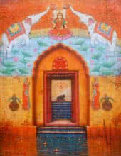 Laxmi   Painting by artist Paramesh Paul   acrylic   Canvas