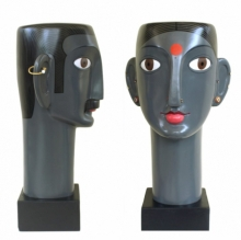 Mixedmedia Sculpture titled 'Untitled 12' by artist Narsimlu Kandi