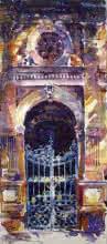 Mukhtar Kazi   Watercolor Painting title Mumbai Gate on Paper   Artist Mukhtar Kazi Gallery   ArtZolo.com