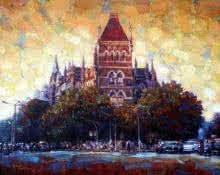 Mukhtar Kazi Paintings | Cityscape Painting - Oriental by artist Mukhtar Kazi | ArtZolo.com
