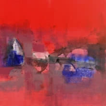 Abstract Acrylic Art Painting title 'Untitled 13' by artist Umesh Patil