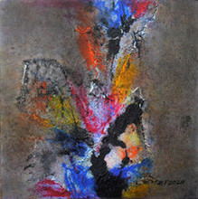 Abstract Acrylic Art Painting title Untitled 24 by artist Umesh Patil