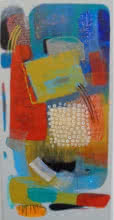 Abstract Acrylic Art Painting title 'Untitled 24' by artist Yashwant Pawar