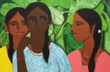 Sakhi | Painting by artist Nagesh Ghodke | acrylic | Canvas
