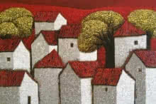 Village 15 | Painting by artist Nagesh Ghodke | acrylic | Canvas
