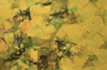 Yellow Space | Painting by artist Asif Shaikh | acrylic | paper