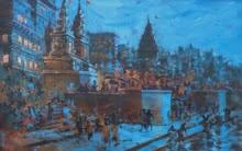Banaras Ghat 21 | Painting by artist Sandeep Chhatraband | acrylic | Canvas