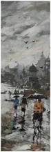 Banaras Ghat 12 | Painting by artist Sandeep Chhatraband | acrylic | Canvas