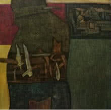 Umesh Bhoi | Oil Painting title UNTITLED 1 on Canvas | Artist Umesh Bhoi Gallery | ArtZolo.com