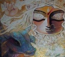 Bhairabhia | Painting by artist Subrata Ghosh | acrylic | Canvas