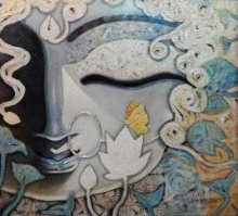 Devi | Painting by artist Subrata Ghosh | acrylic | Canvas