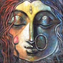 Devi 2 | Painting by artist Subrata Ghosh | acrylic | Canvas