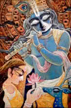 art, painting, acrylic, canvas, religious, god, krishna