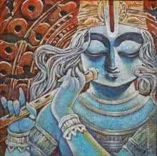 Subrata Ghosh | Acrylic Painting title Tirupati on Canvas