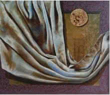 Lifestyle Acrylic-oil Art Painting title 'Food Cloth and Shelter' by artist Nitin Marde
