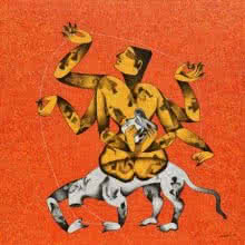 Shakti | Painting by artist Chikmath FV | acrylic | canvas