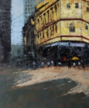 Cityscape Acrylic Art Painting title 'Mumbai Series 3' by artist Sandeep Ghule