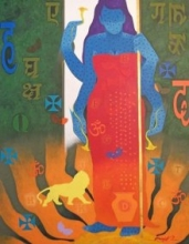 Feminity-13 | Painting by artist Ranjit Singh | acrylic | Canvas