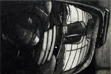 Other Etching Art Drawing title 'Window' by artist Kinnari Tondalekar