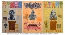 Ramnamis   Painting by artist Bhuneshwar Azaad   mixed-media   Canvas