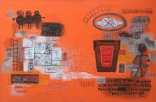 contemporary Mixed-media Art Painting title 'Khairagarh' by artist Bhuneshwar Azaad