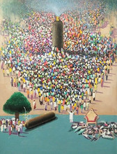 contemporary Acrylic Art Painting title Critical Situation In The World by artist Amol Satre