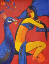 Friendship | Painting by artist Navnath Chobhe | acrylic | Canvas