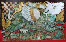 Kamadhenu 2 | Painting by artist Ramesh Gorjala | acrylic | Canvas