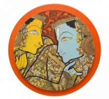 Radha Krishna | Painting by artist Ramesh Gorjala | acrylic | Canvas