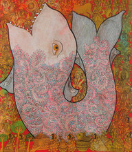 Religious Mixed-media Art Painting title Untitled 1 by artist Ramesh Gorjala