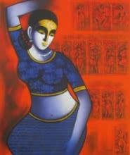Celestial Beauty.sursundari 2 | Painting by artist Pratiksha Bothe | acrylic | Canvas