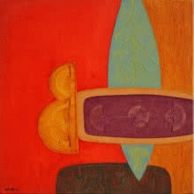 Bhushan Vaidhya | Acrylic Painting title Untitled 13 on Canvas | Artist Bhushan Vaidhya Gallery | ArtZolo.com