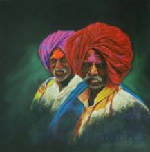 Realistic Color-pencil Art Drawing title Pilligrim 2 by artist Parshuram Patil