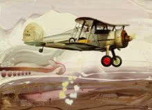 Aviation Oil Art Painting title 'Chariots Of Love 5' by artist Ankur Rana