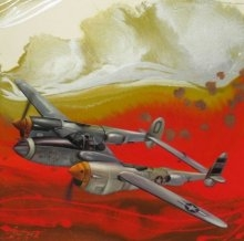 Aviation Oil Art Painting title 'Chariots Of Love 8' by artist Ankur Rana