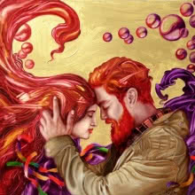 Fantasy Oil Art Painting title Soulmates 4 by artist Ankur Rana