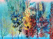 Kishore Kumar Sahu Paintings | Nature Painting - Exuberance XVII by artist Kishore Kumar Sahu | ArtZolo.com