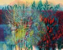Nature Acrylic Art Painting title 'Exuberance XVI' by artist Kishore Kumar Sahu