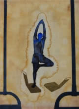 Yoga   Painting by artist Manish  Sutar   watercolor   Paper