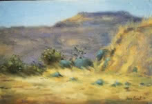Landscape Oil Art Painting title 'Field 1' by artist Uday Farat