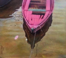 Reflection 1 | Painting by artist Uday Farat | oil | Canvas
