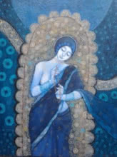 Figurative Acrylic Art Painting title 'Sadhana 2' by artist Apurba Karati