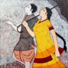 Happy Monsoon | Painting by artist Rahul Mhetre | acrylic | Canvas