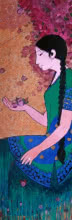 Bougainvillea | Painting by artist Rahul Mhetre | acrylic | Canvas