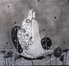 Lady | Drawing by artist Prathamesh Khandvilkar |  | charcoal | Paper